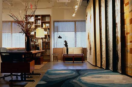 Ontwerp showroom en kantoor combinatie inrichting huis