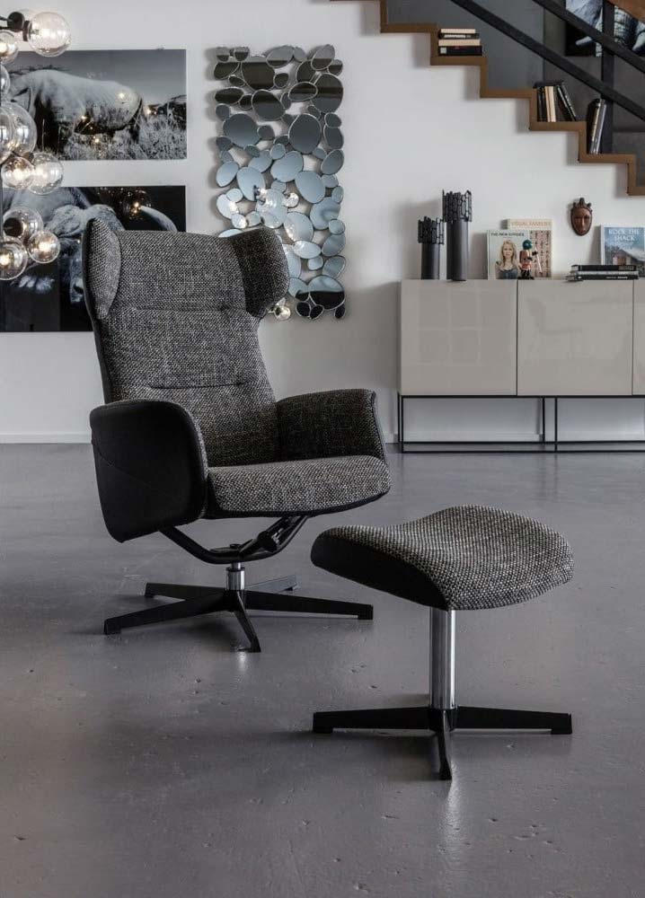Kare Design fauteuil en Hocker Ohio