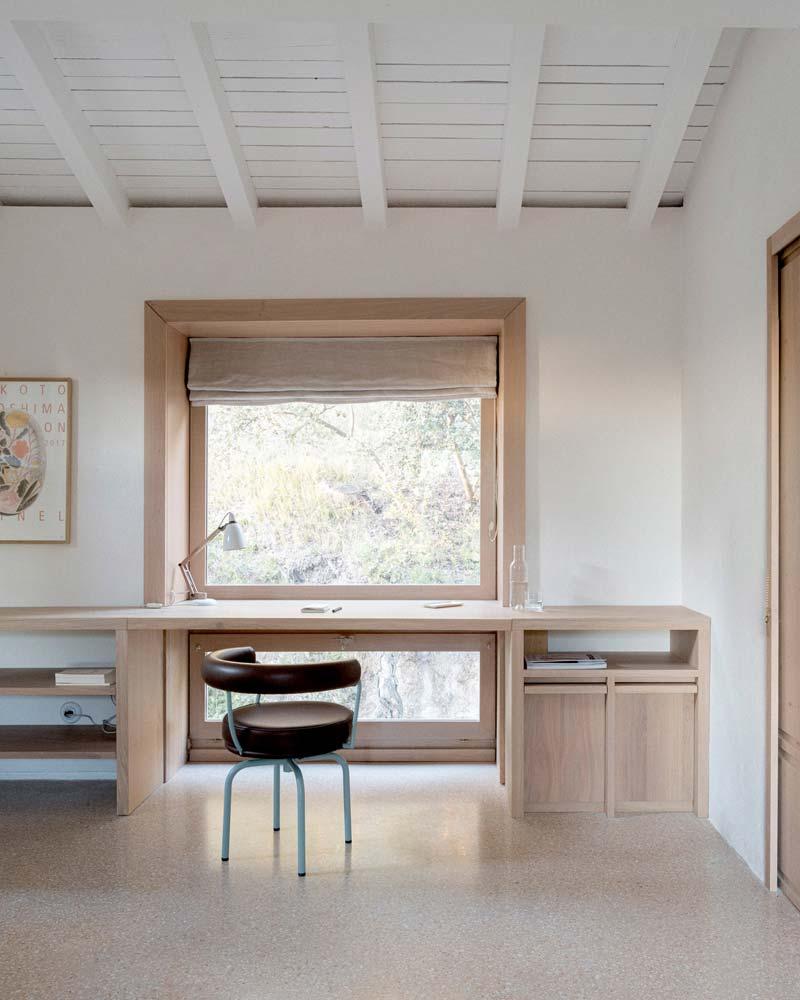 op maat gemaakt houten bureau