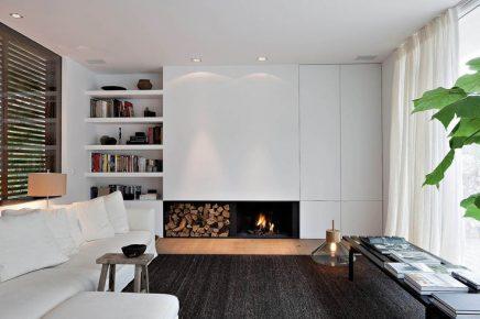 Op maat gemaakte kast over de hele muur inrichting for Kast woonkamer modern