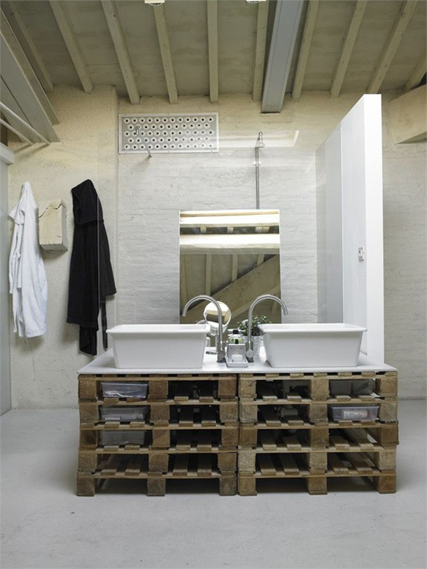 Open badkamer in loft