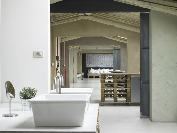 Open badkamer in loft | Inrichting-huis.com