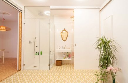 Open badkamer