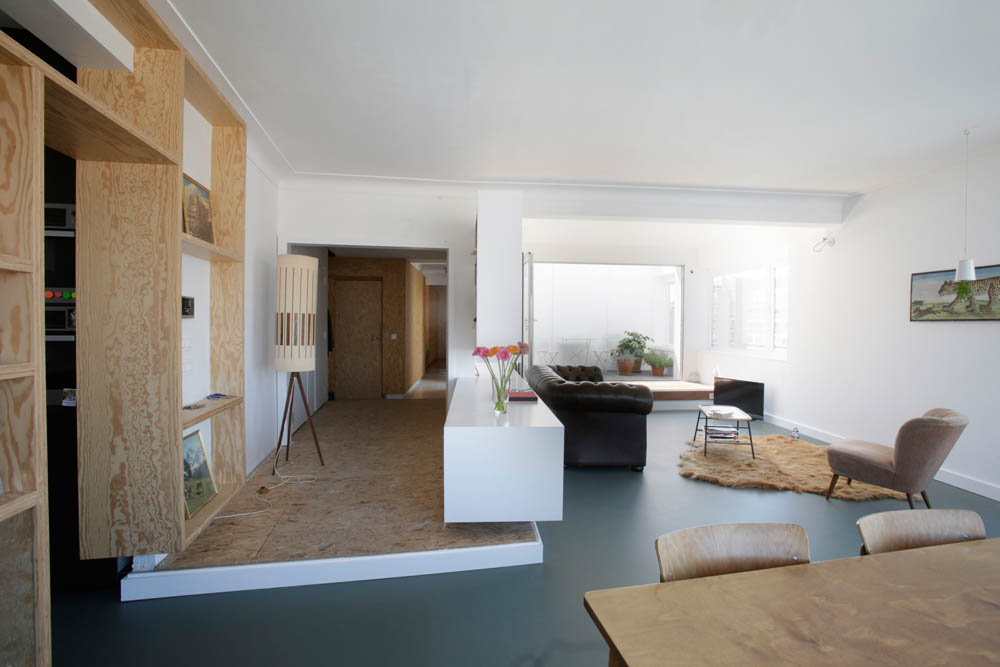 Open hal woonkamer