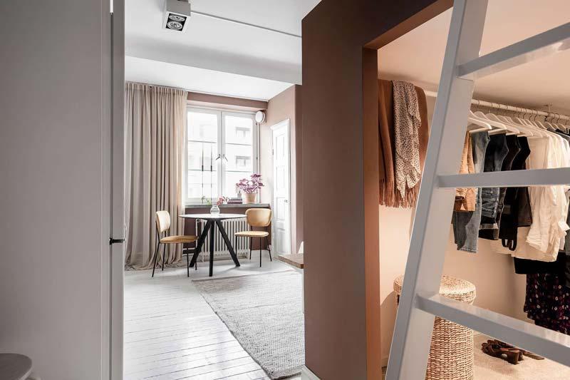 open inloopkast woonkamer
