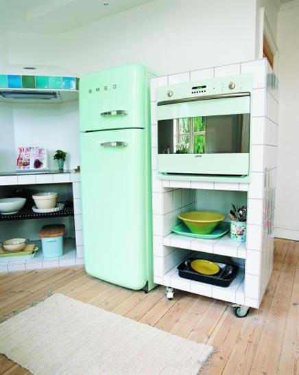 Keuken open keuken amerikaanse koelkast inspirerende for Interieur frigo smeg