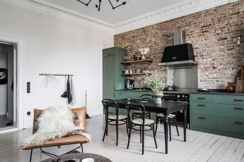 open keuken klein appartement
