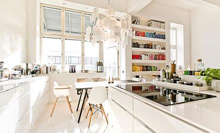 Open keuken met lage kasten inrichting - Open keukeninrichting ...