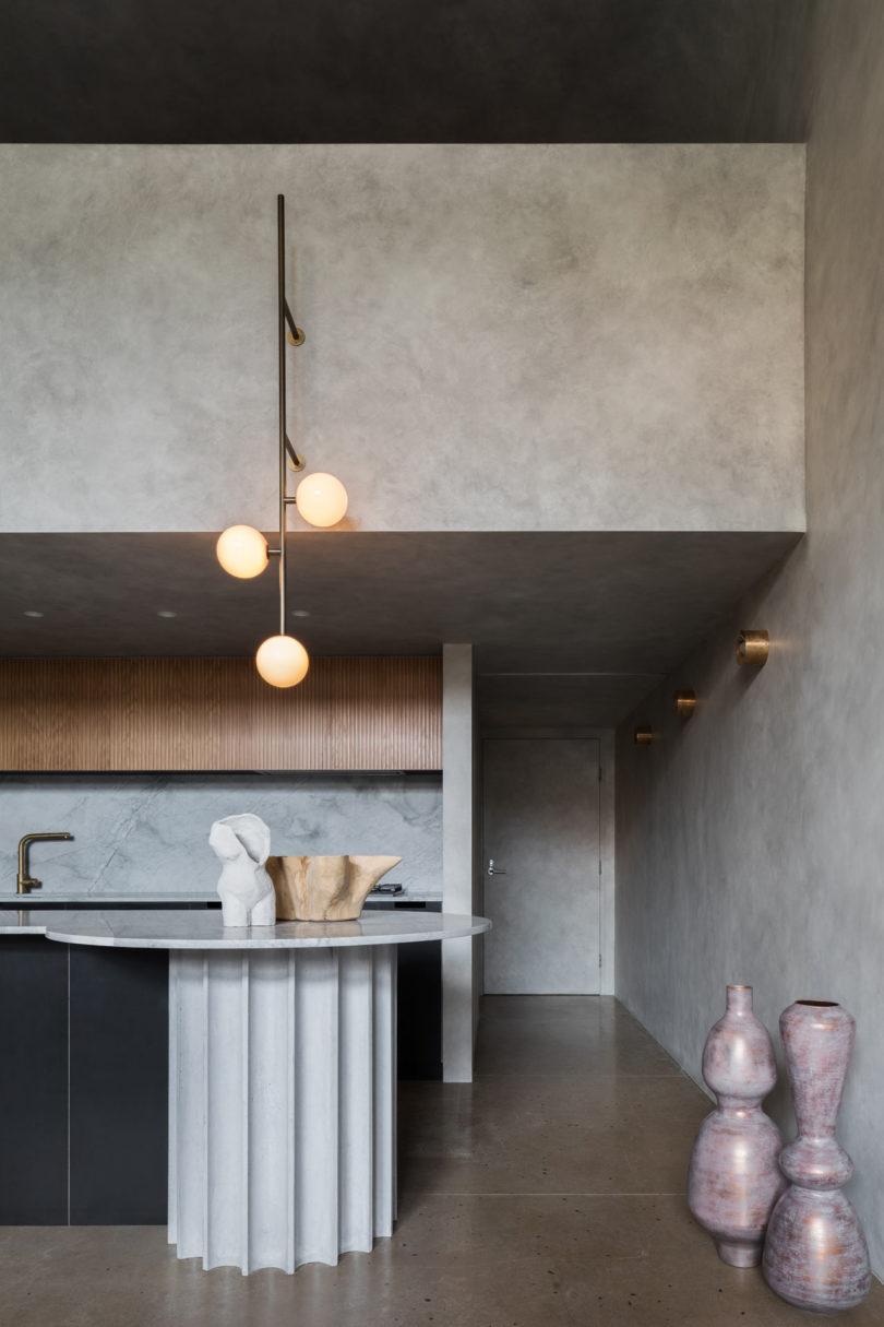 open keuken marmeren werkblad
