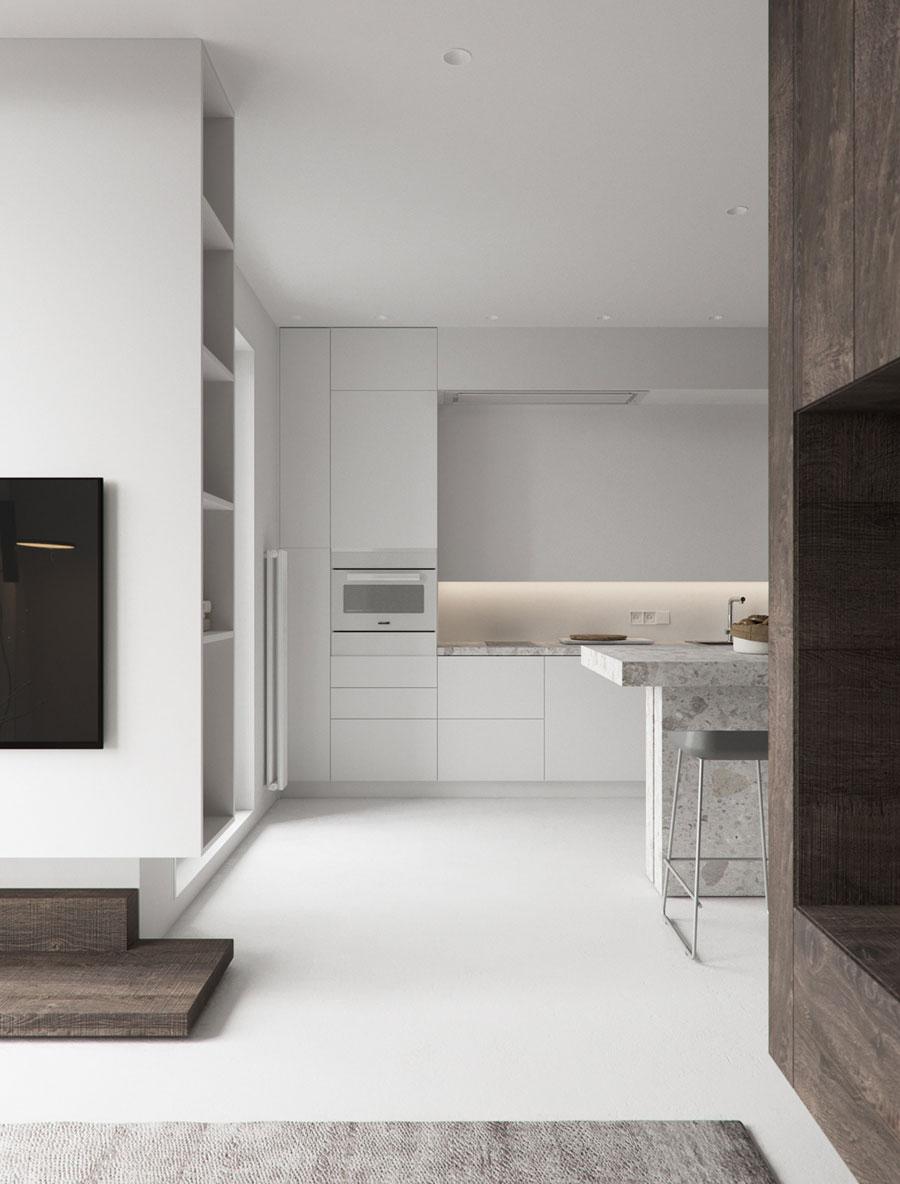 open keuken wit interieur