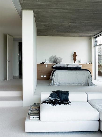 Open strakke slaapkamer inrichting - Huis slaapkamer ...