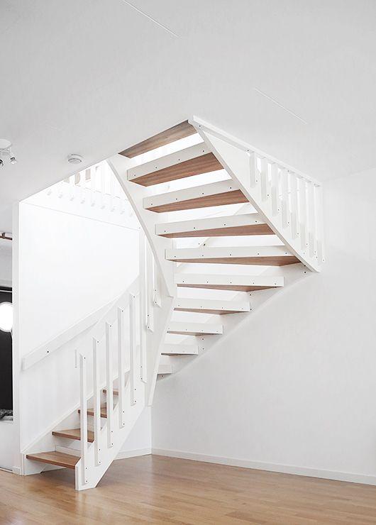 open trappen zonder stootborden