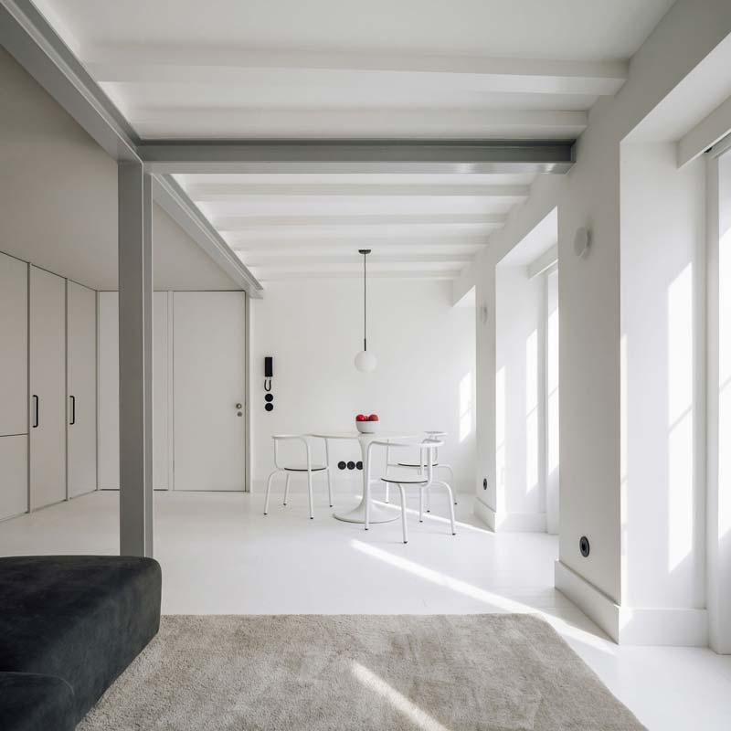 Open woonkamer klein appartement