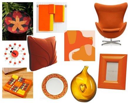 Oranje woninginrichting