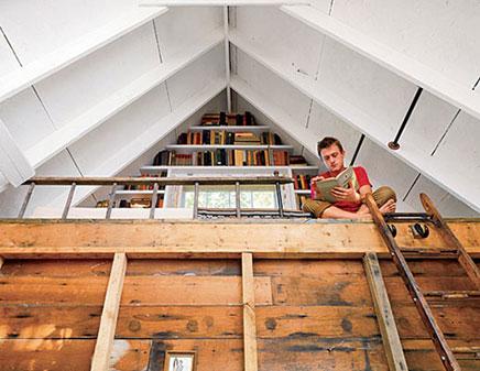 Overnachten in een boomhut inrichting - Model bibliotheek houten ...