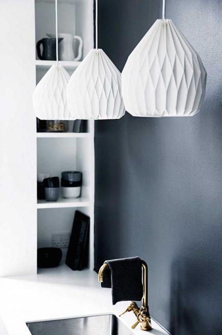 Papieren hanglamp keuken