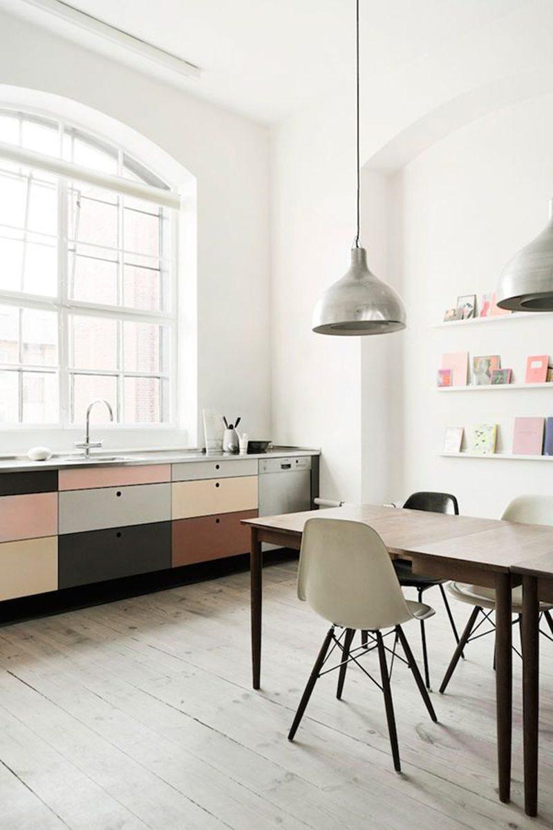Subtiele pastel keuken