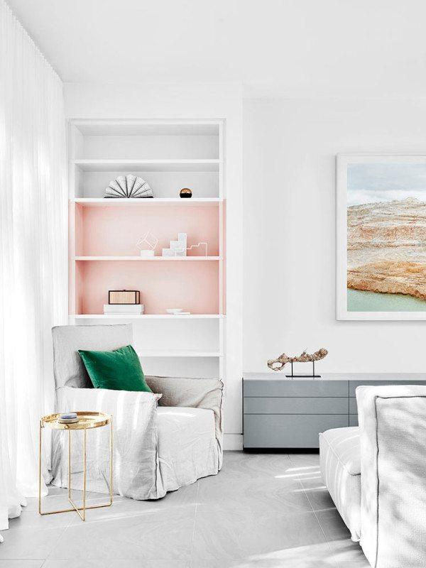 Pasteltinten moderne woonkamer