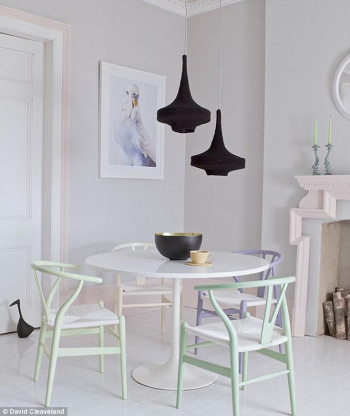 Pasteltinten interieur stoelen
