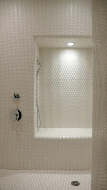 Penny tiles badkamer