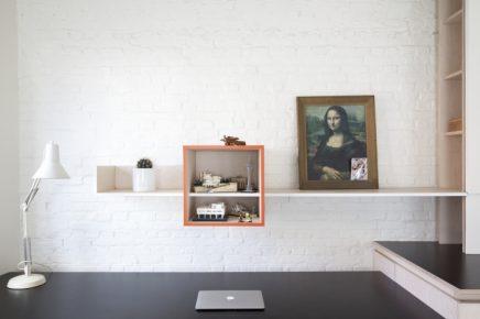 Perfecte combinatie van woonkamer werkplek en keuken inrichting