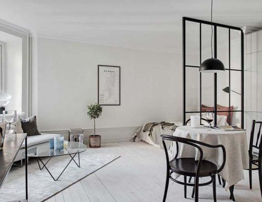 Perfecte inrichting van een klein appartement van 35m2