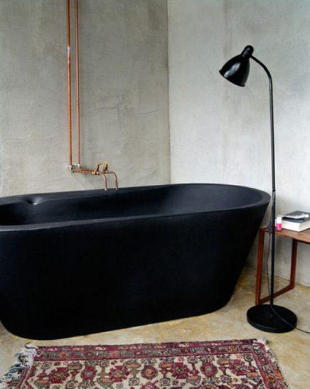 Perzische vloerkleed in badkamer