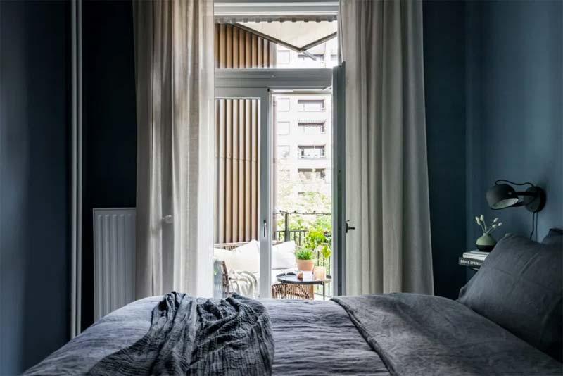 petrol kleur muren slaapkamer