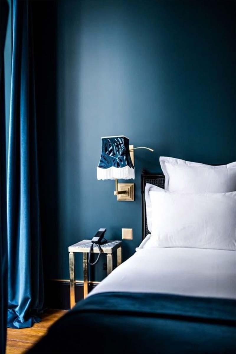 petrol kleur slaapkamer