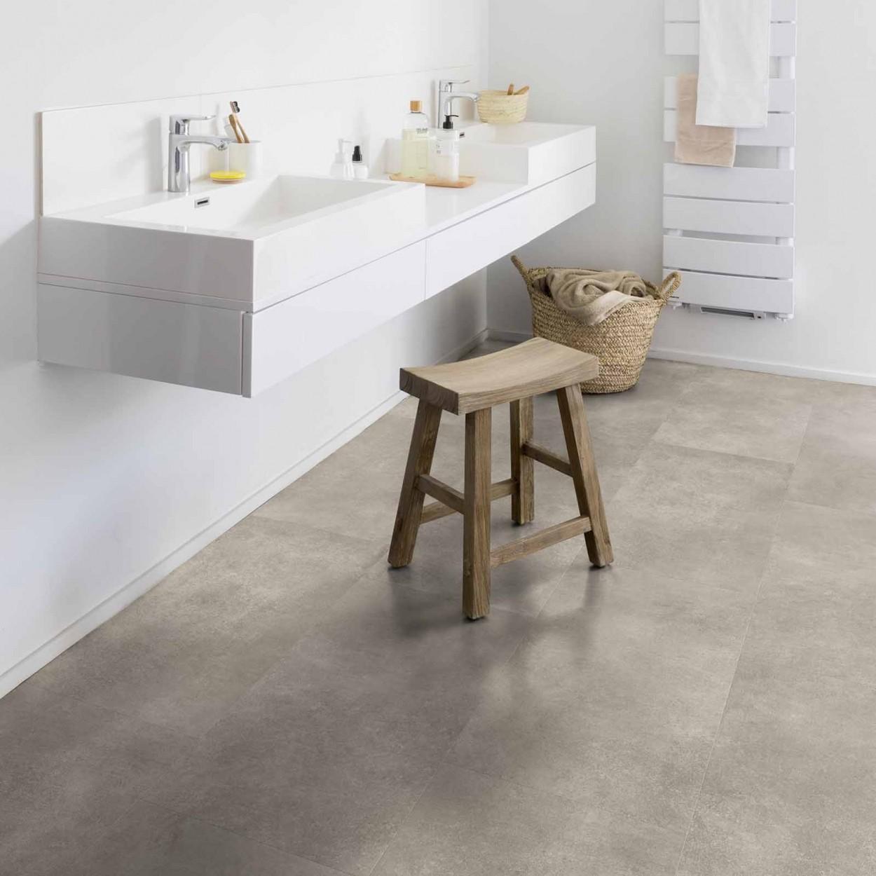 plaktegels gerflor senso lichtgrijs badkamer vloer