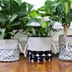 DIY Plantenbak van stof