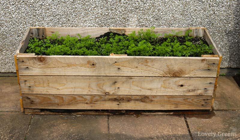 plantenbak maken houten pallet