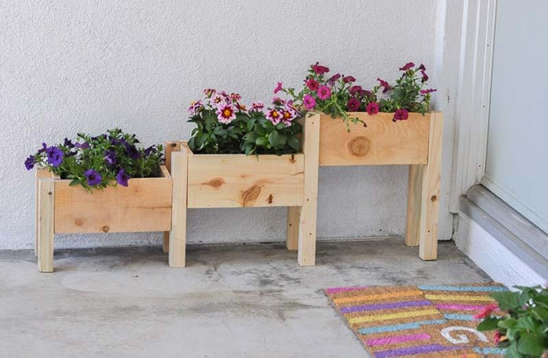 plantenbak maken trapvorm
