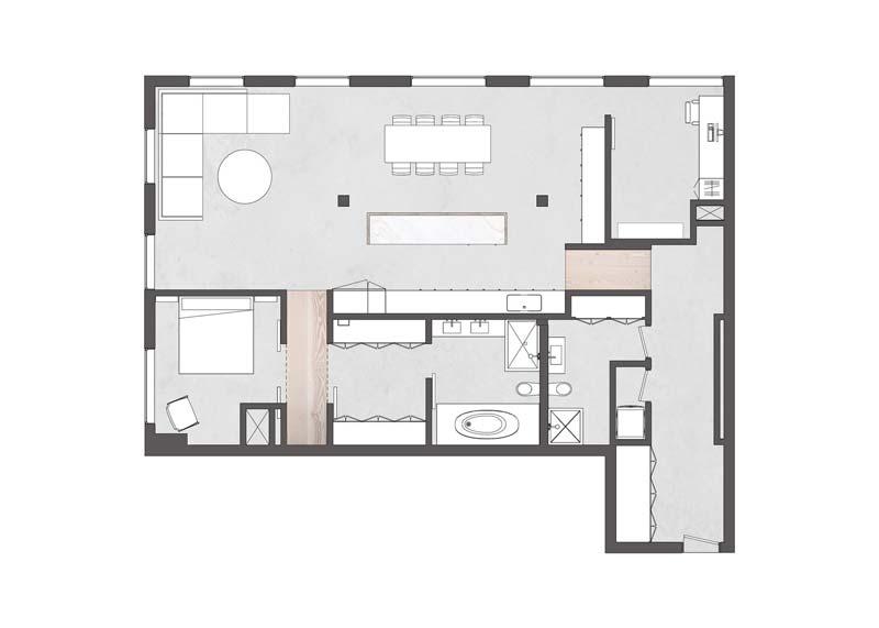 plattegrond loft appartement