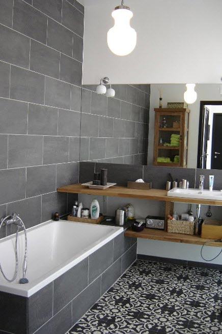 images about interior tiles  tegels on   toilets, Meubels Ideeën