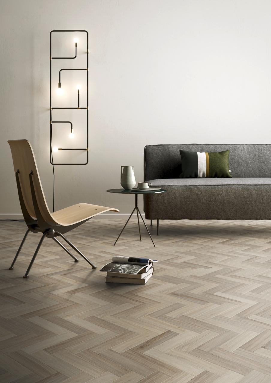 PVC visgraat vloer woonkamer