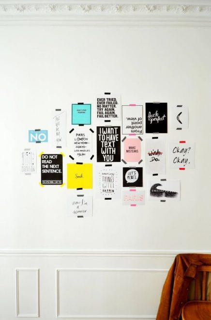 Quotes aan de muur