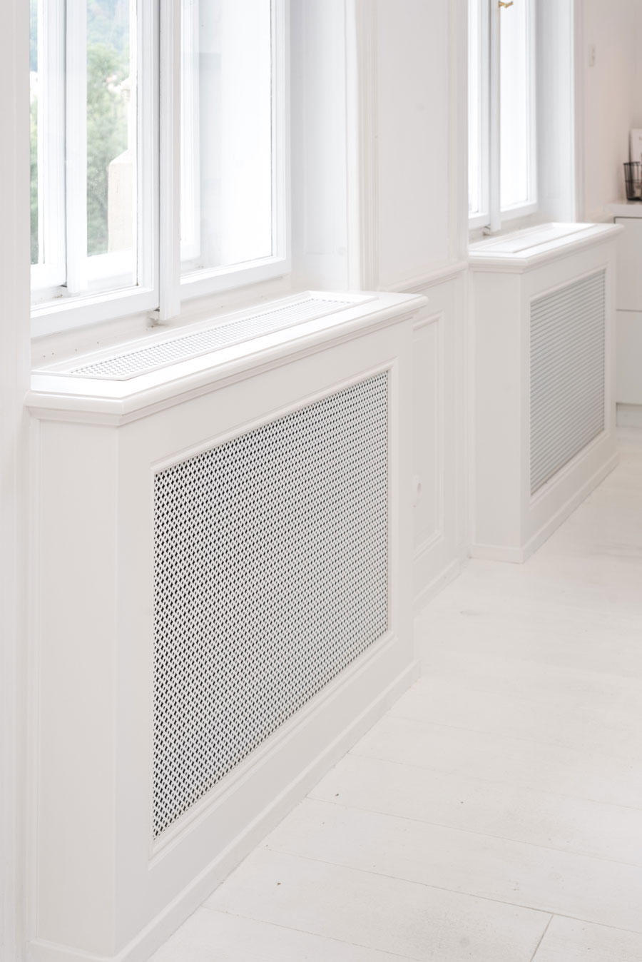 radiatorombouw wit interieur