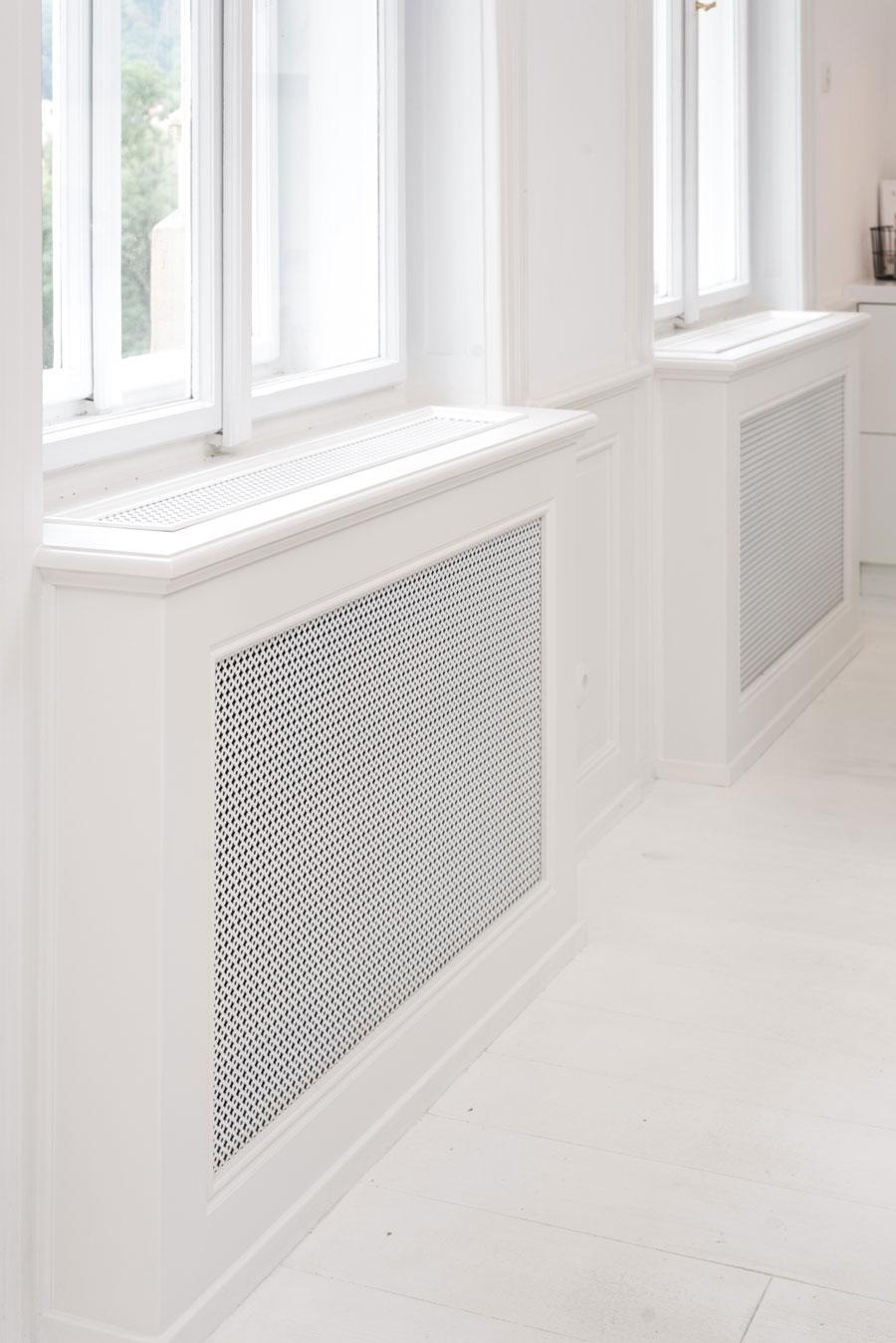 radiatorombouw wit interieur