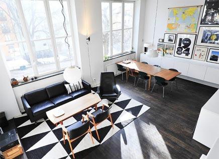Retro art woonkamer | Inrichting-huis.com