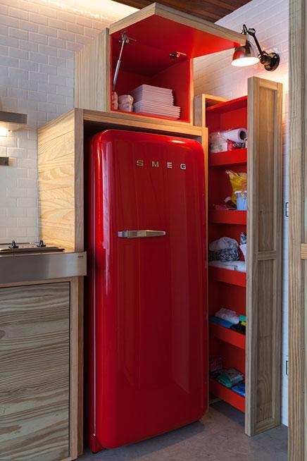 Rode smeg koelkast