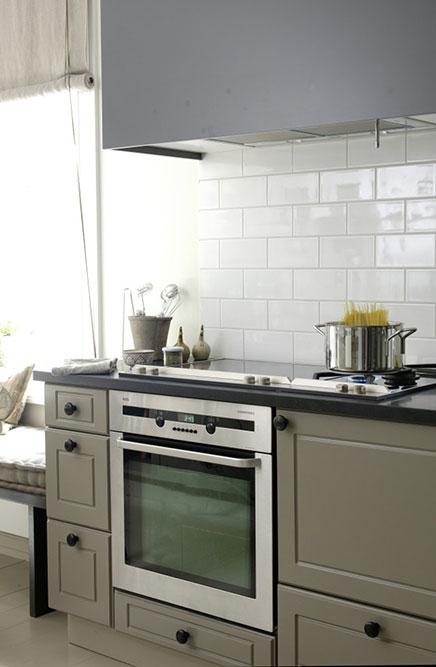 Keuken Grijs Groen : Landelijke keuken interieurontwerpster Christine Inrichting-huis.com