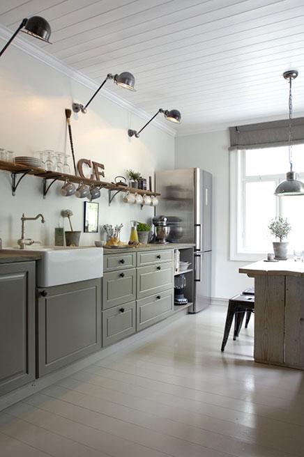 Landelijke keuken interieurontwerpster christine inrichting - Keuken geesten campagne ...