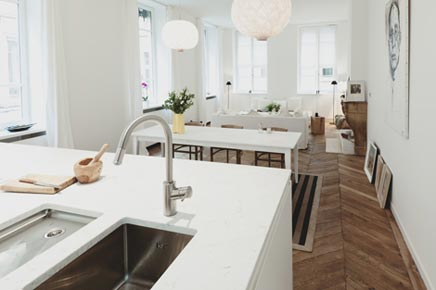 Romantische woninginrichting appartement Parijs