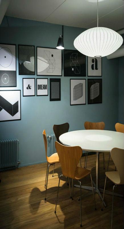 Ronde eettafel inrichting - Deco eigentijds design huis ...