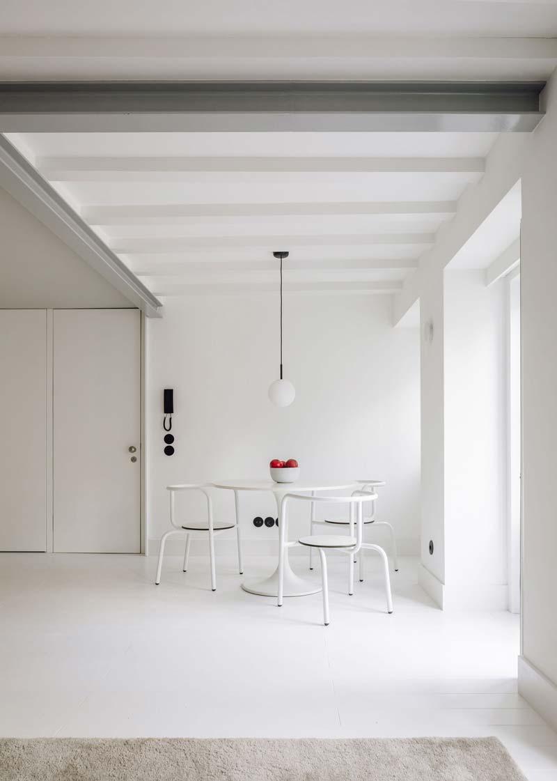 Ronde eettafel klein appartement