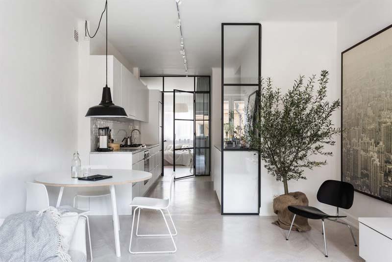 ronde eettafel woonkamer open keuken
