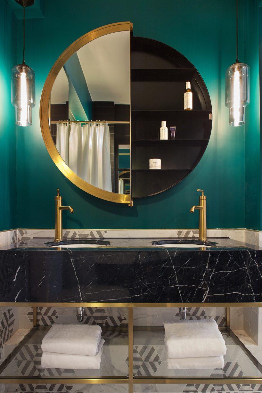 ronde-gouden-spiegel-badkamer