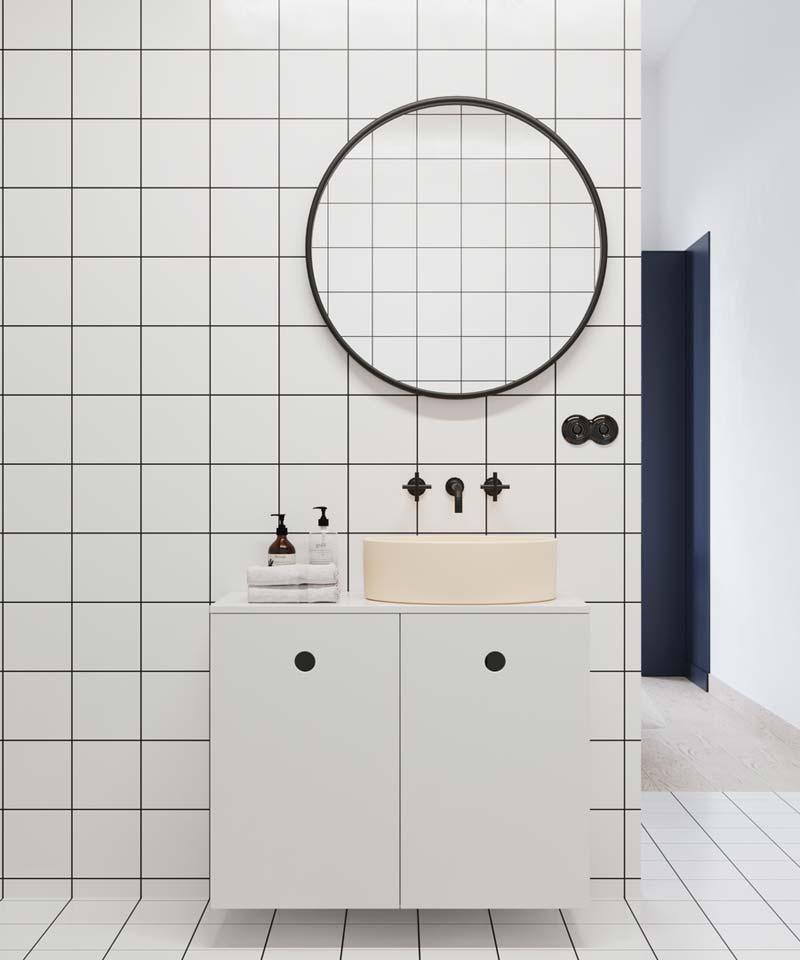 ronde spiegel badkamer