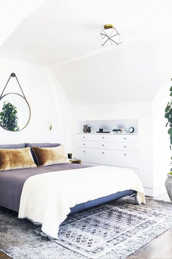 Ronde spiegel inrichting for Spiegel boven bed